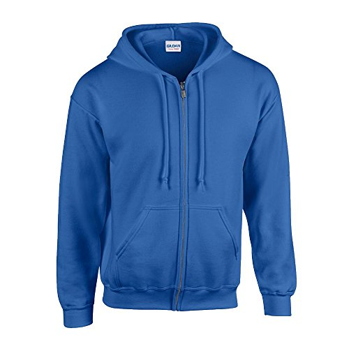 Gildan - Kapuzen Sweat-Jacke 'Heavyweight Full Zip' XXL,Royal von Gildan