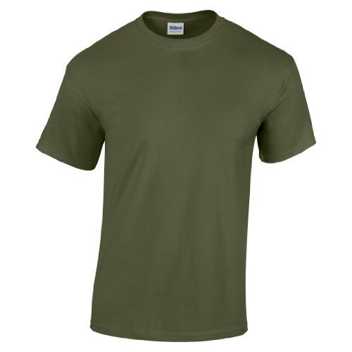 Gildan Kinder T-Shirt Heavy Cotton Grün Military Green XS von Gildan