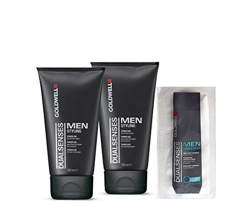 Goldwell Dualsenses Men Power Gel 2x150ml = 300ml + Hair & Body Shampoo Sachet 10ml von Goldwell