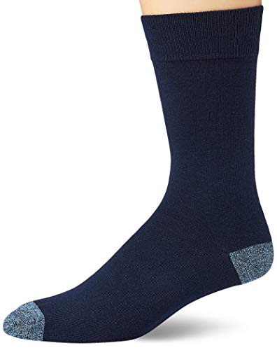 Goodthreads 5-Pack Patterned Socken, assorted blue/yellow/grey, Large (Shoe Size: 8-12) von Goodthreads