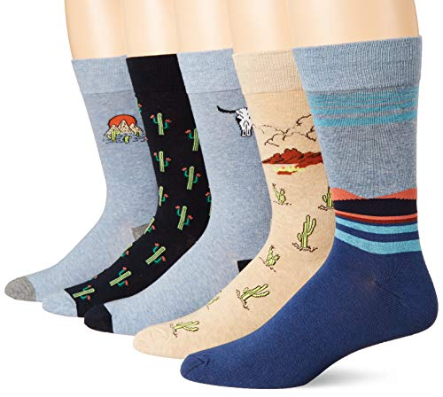 Goodthreads 5-Pack Patterned casual-socks, Cactus Pack, One Size von Goodthreads