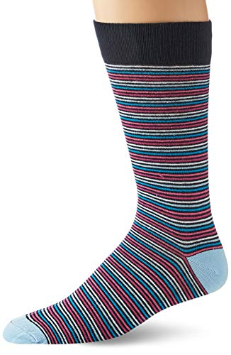 Goodthreads 5-Pack Patterned casual-socks, Pink Blue Stripes, One Size von Goodthreads