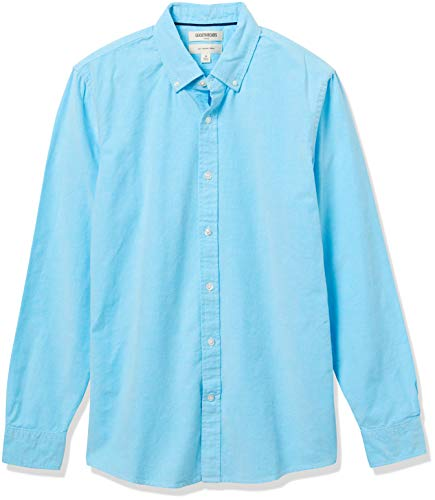 Goodthreads Slim-Fit Long-Sleeve Solid Oxford Shirt Hemd, Turquoise, X-Large von Goodthreads