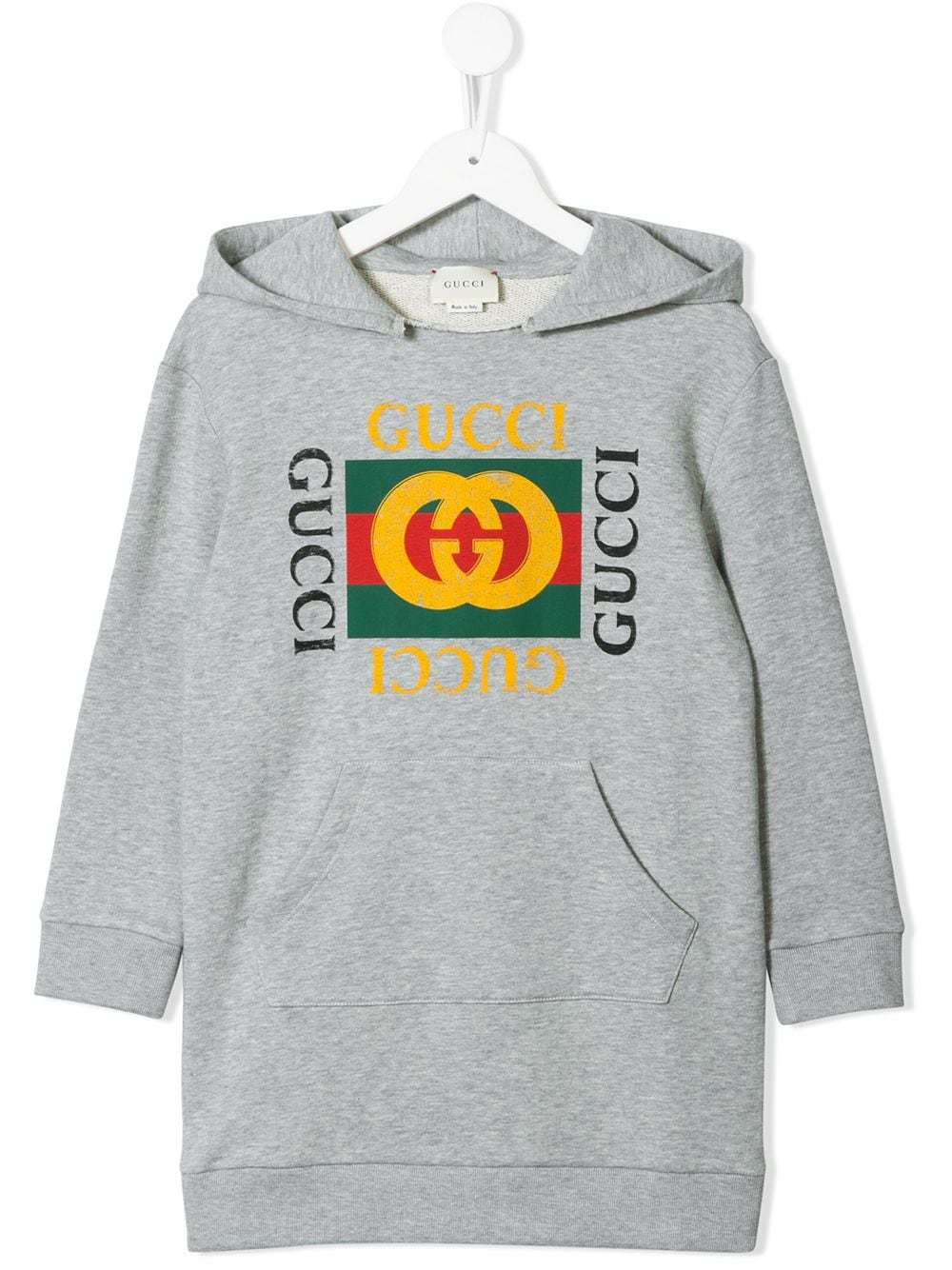Gucci Kids logo print sweatshirt dress - Grau von Gucci Kids