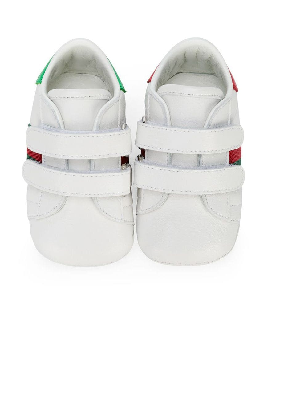 Gucci Kids Baby leather sneakers with Web - Weiß von Gucci Kids