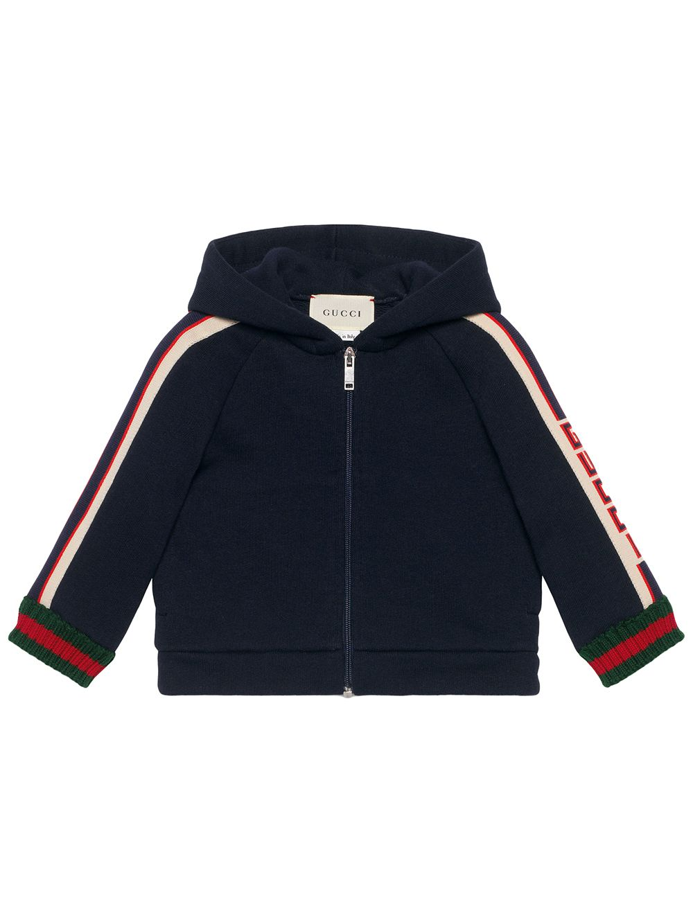 Gucci Kids Baby sweatshirt with Gucci stripe - Blau von Gucci Kids