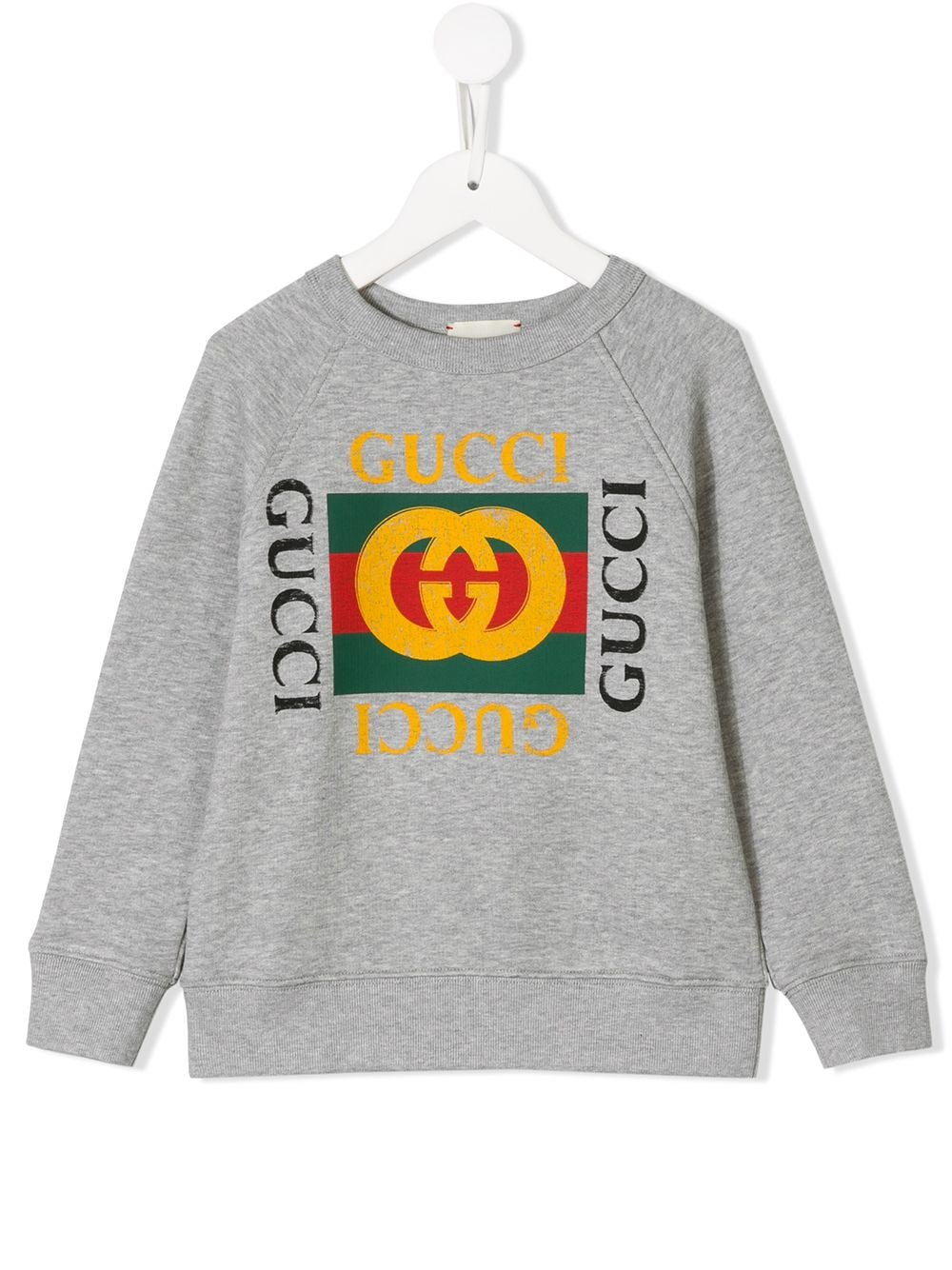 Gucci Kids logo print sweater - Grau von Gucci Kids