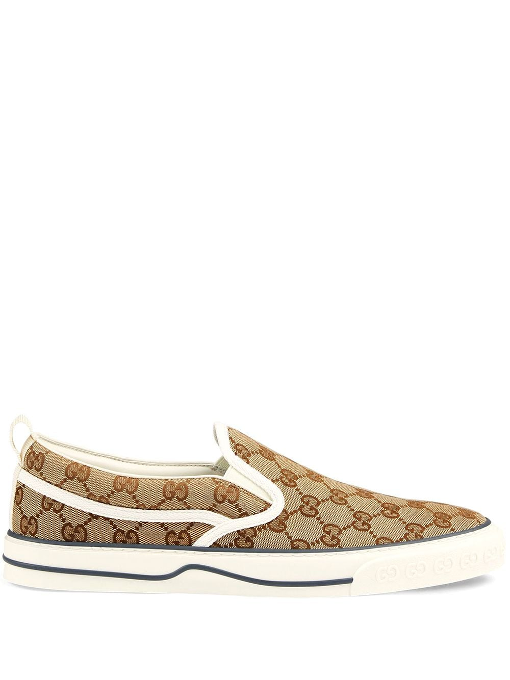 Gucci Slip-On-Sneakers aus GG Supreme - Nude von Gucci