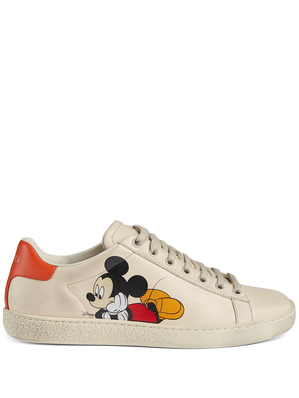 Gucci x Disney Mickey Mouse sneakers - Weiß von Gucci