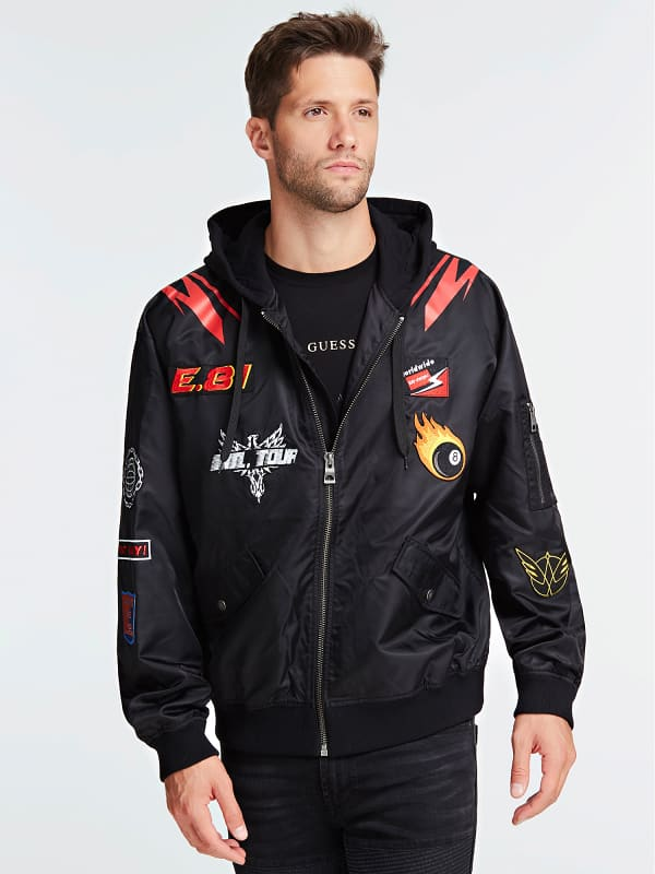 Bomberjacke Mit Kapuze Applikationen Patch von Guess