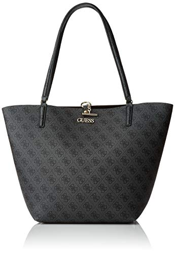 Guess Damen Alby Toggle Tote Bag, Coal/Black, Size One von Guess