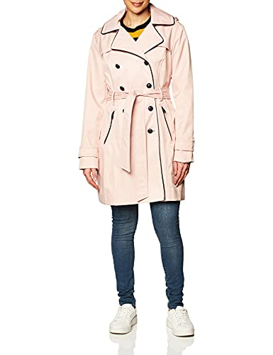 Guess Damen Double Breasted Trench Coat with Contrast Trim Trenchcoat, Blush, Large von Guess