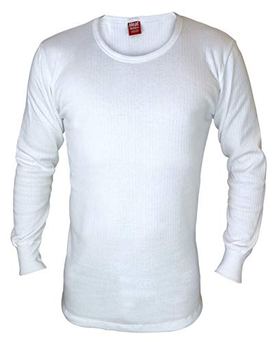 "HEAT HOLDERS - Herren Thermo Innenfleece Outdoor Langarm Unterhemd (Medium (38-40"" Chest), White) von HEAT HOLDERS"