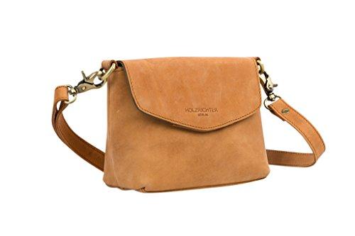 edad5dd3ad592 HOLZRICHTER Berlin Damen Umhängetasche (S) - Handgefertigte Kleine  Handtasche aus Leder - camel-