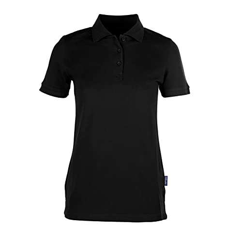 HRM Damen Poloshirt Heavy Stretch W Schwarz 01-Black, X-Large von HRM