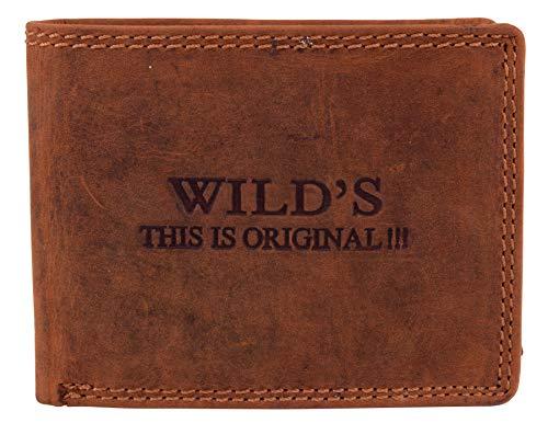 WILD ONE XXL Geldbörse mit RFID Blocker robustes Rindleder Bikerbörse mit Kette
