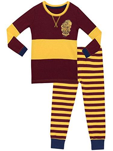 Jungen /& Mädchen Harry Potter Gryffindor House 100/% Baumwolle Pyjama 4-13 Jahre