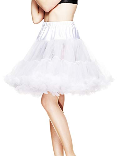 Hell Bunny Petticoat SWING SHORT white/white L-XXL von Hell Bunny