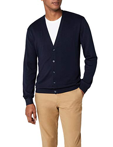 Henbury Herren Mens Lightweight V Cardigan Strickjacke, Blau (Navy), X-Small von Henbury