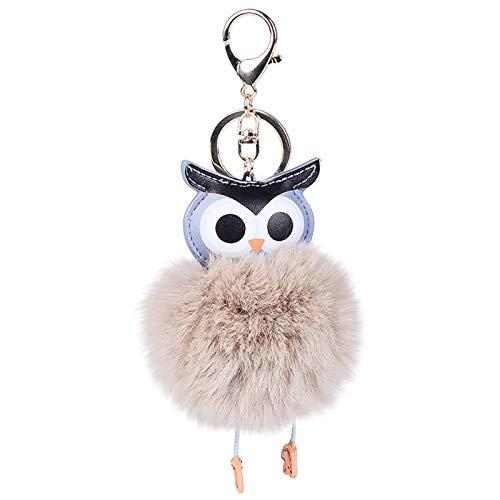 156daa783ca5c Hevoiok Strass Engel Diamant Schlüsselanhänger Beautiful Plüsch Rex  Kaninchen Keychain Tasche Riemen Handtaschen Anhänger Mädchen Valentinstag