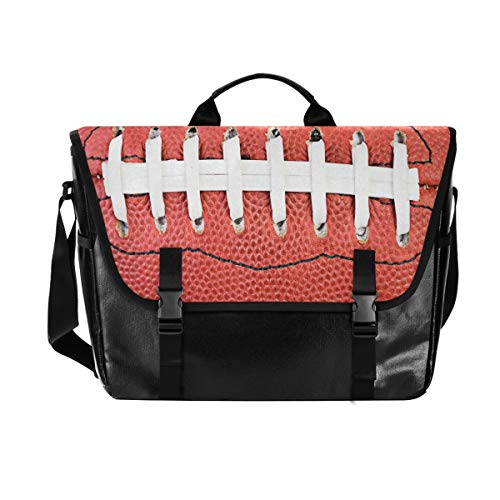 Hunihuni Messenger Bag American Football Canvas Laptop Aktentasche Umhängetasche für Herren mit Schultergurt Anzug für 15 Zoll von Hunihuni