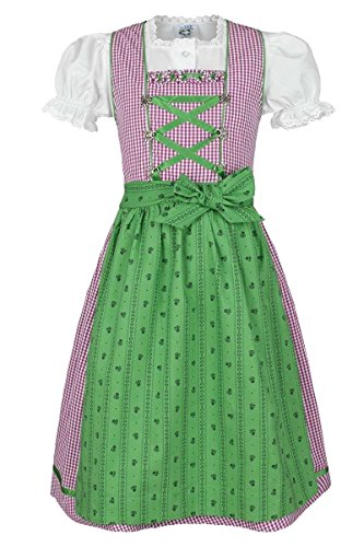 Bluse Mädchen Gr 92  /%SALE/% Isar Trachten Kinder Dirndl Leonie Pink Grün 3-tlg