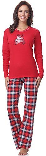Italian Fashion IF Damen Pyjama Dominica 0223 (Rot-2, S) von Italian Fashion IF