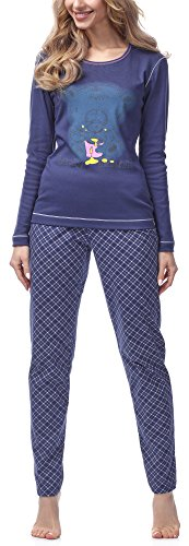 Italian Fashion IF Damen Pyjama Sweet M007 (Navy, L) von Italian Fashion IF