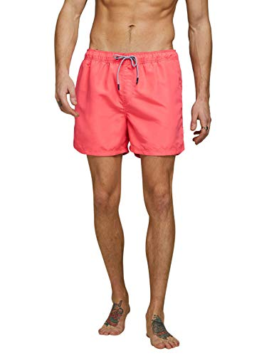 JACK & JONES Herren Jjiaruba Jjswim Shorts Akm Sts Badehose, Hot Coral, XL EU von JACK & JONES