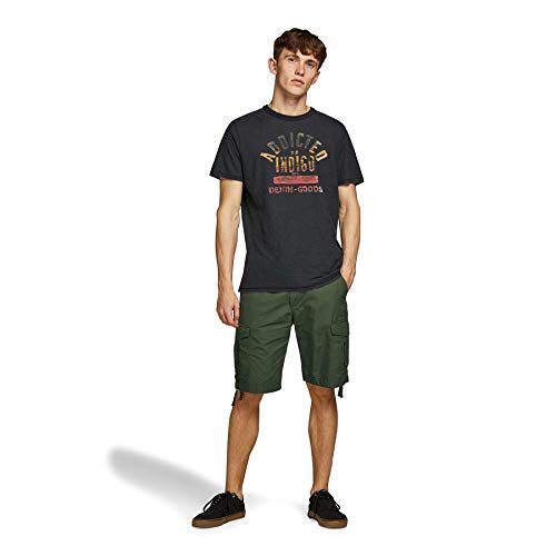 JACK & JONES Male Cargoshorts Reißverschluss SForest Night von JACK & JONES
