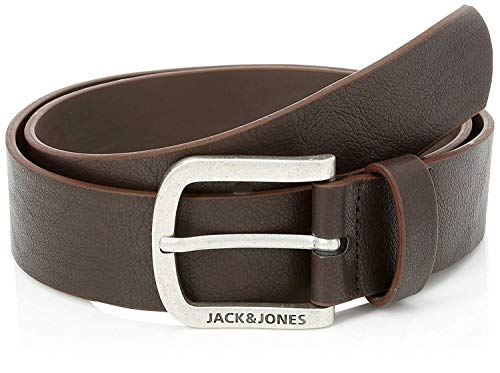JACK & JONES Herren Gürtel Jacharry Belt Noos, Braun (Black Coffee Black Coffee), 90 von JACK & JONES