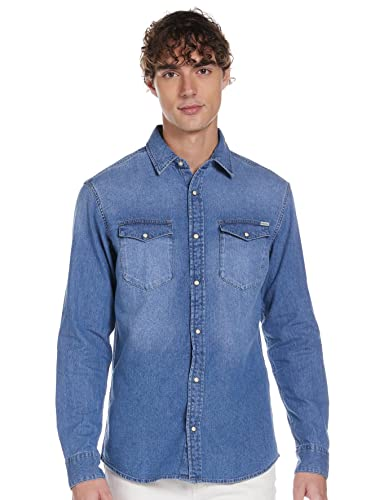 JACK & JONES Herren Hemd Must-Have SMedium Blue Denim von JACK & JONES