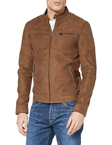 JACK & JONES Herren Lederjacke Faux XLCognac 2 von JACK & JONES
