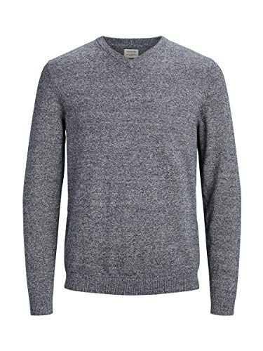 JACK & JONES Male Strickpullover V-Ausschnitt MNavy Blazer 2 von JACK & JONES