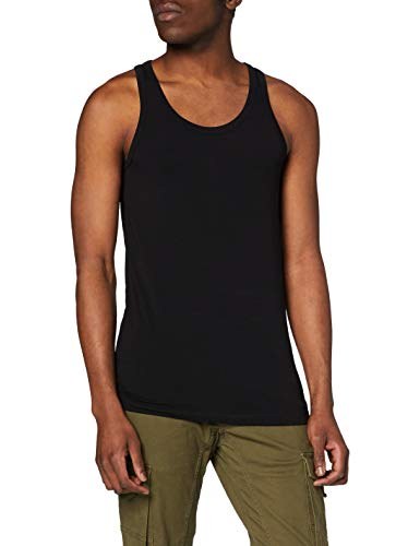 JACK & JONES Herren Top BASIC TANK 1-2-3 2014 NOOS, Einfarbig, Gr. Medium, Schwarz (Black C-N10) von JACK & JONES