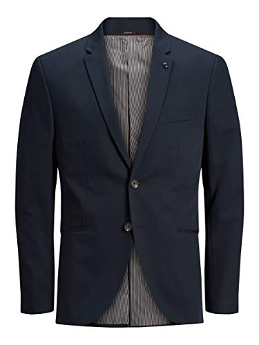 JACK & JONES Male Blazer Recyclingpolyester 48Dark Navy von JACK & JONES