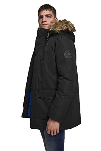 JACK & JONES Male Parka Kunstfellkapuzen LBlack von JACK & JONES