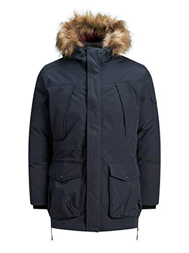 JACK & JONES Male Parka Kunstfellkapuzen MDark Navy von JACK & JONES