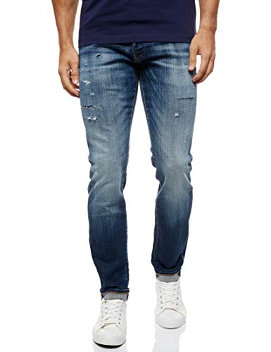 JACK & JONES Male Slim Fit Jeans Glenn Fox JJ 176 3032Blue Denim von JACK & JONES