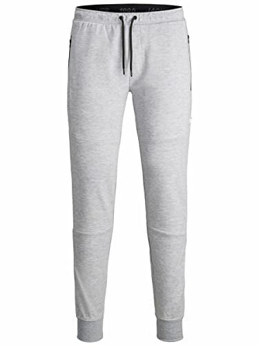 Jack & Jones Mens JJIWILL JJAIR Sweat Pants NOOS NB Sweatpants, Light Grey Melange, S/ von JACK & JONES