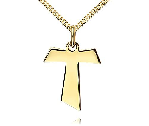 Herren anhänger goldkette mit Stainless Steel