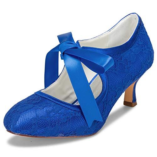 Brautschuhe In Blau Fur Frauen Damenmode In Blau Bei Fashn De