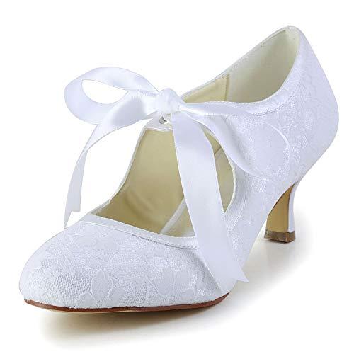 Brautschuhe Damen JIA 14031 EU Pumps JIA 37 Wedding wei Hochzeitsschuhe q4ZvxxOwU