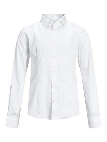 JACK & JONES Herren Hemd Jungs Rundsaum 152White von JACK & JONES