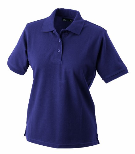 James & Nicholson Damen Poloshirt Ladies' Polo rot aubergine), Large von James & Nicholson