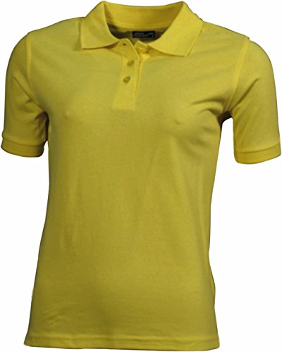 James & Nicholson Damen Poloshirt Ladies' Polo gelb Yellow), Small von James & Nicholson
