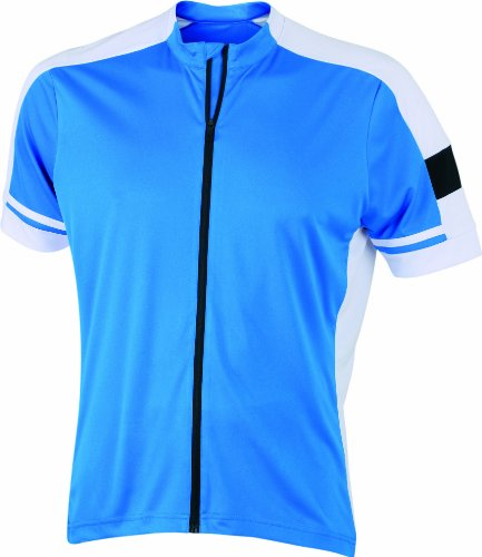James & Nicholson Herren Sport Top Radtrikots Bike-T Full Zip blau (cobalt) XXX-Large von James & Nicholson
