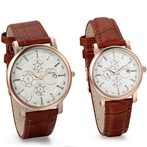 Armbanduhr damen leder braun  Uhren von JewelryWe für Frauen günstig online kaufen bei fashn.de