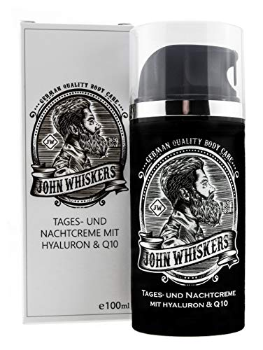 John Whiskers Tages- und Nachtcreme - Made in Germany - mit Hyaluron und Q10 - for Men von John Whiskers