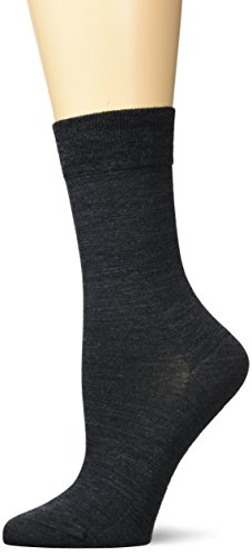 KUNERT Damen Soft Wool Cotton Socken, Grau (anthrazitmel 4050), 35/38 von Kunert